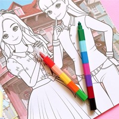 시크릿쥬쥬 블럭색연필 12색