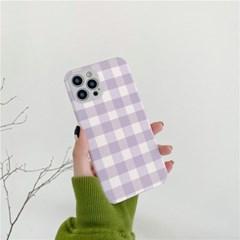 파스텔 체크 아이폰 카메라보호 범퍼케이스