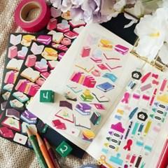[스튜디오 퐁듀] BOOKS & stationery 씰스티커