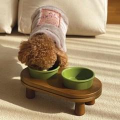 페시앙 다이닝식탁 강아지 고양이 프리미엄 도자기 원목2구 테이블