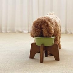 페시앙 크로스 펫 식탁 강아지 고양이 프리미엄 도자기 원목1구 식탁