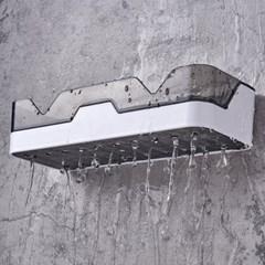 무타공 욕실 화장실 물빠짐 흡착식 수납 선반