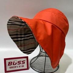 와이어 체크 챙넓은 기본 심플 데일리 패션 썬캡 모자