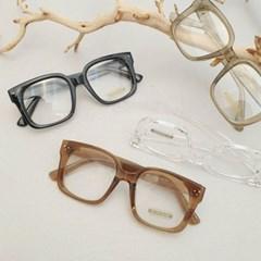 뿔테 사각 브라운 가벼운 도수없는 데일리 패션 안경