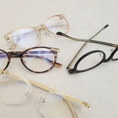 호피 블랙 투명 도수없는 가벼운 데일리 패션 안경