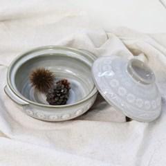문양 내열냄비 뚝배기 수입도자기 그릇