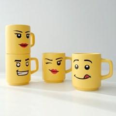모애 레트로감성 홈카페 디자인 레고 무광 머그컵 마이브릭스