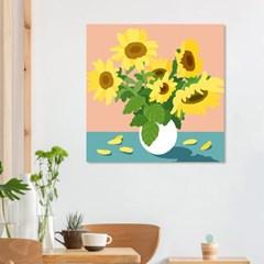 미니멀해바라기 풍수지리 일러스트 캔버스그림