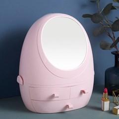 뷰티샵 회전거울 화장품 정리함 서랍형 화장품수납함