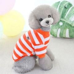 도그웨그 미니 와펜 티셔츠 강아지 겨울 옷 실내복