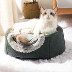 도그웨그 2in1 동굴 숨숨집 강아지 침대 고양이 하우스