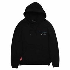 백프린트 후드 티셔츠 블랙