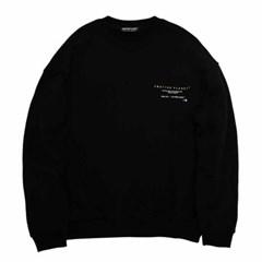 백핸드프린트 스웻셔츠 블랙