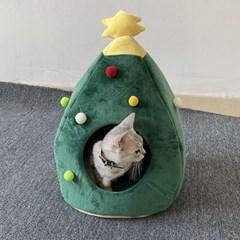 도그웨그 크리스마스 트리 고양이 숨숨집 강아지 겨울 하우스