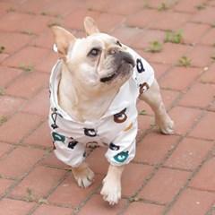 도그웨그 곰돌이 강아지 우비 비옷
