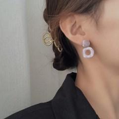 사오미 사각 링 레이어드 여성 귀걸이 925 silver_(2550499)