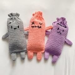 개달당 몬스터 캣닢쿠션 파우치 고양이장난감 뒷발팡팡