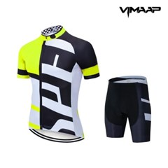 VIMAAP 반팔 져지 싸이클복 자전거의류 - 화이트/옐로우