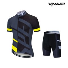 VIMAAP 반팔 져지 싸이클복 자전거의류 - 블랙/옐로우