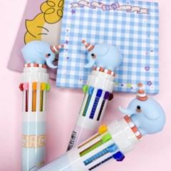 [맙소사잡화점] 아기 코끼리 10색 볼펜