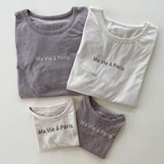 타) 맘커플 파리 유아동 티셔츠