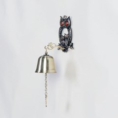 엔틱메탈 부엉이 커플 1벨 학교종 도어벨