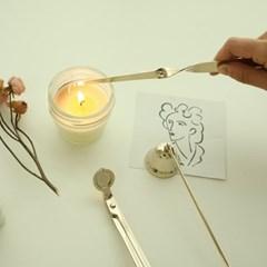 골드 캔들 관리 3종 [향초 심지 디퍼 가위 용품 악세사리 도구]