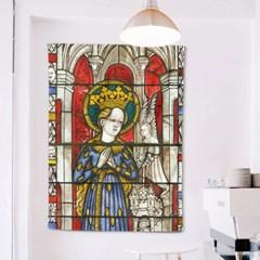 패브릭 포스터 스테인드글라스 여왕과 천사