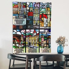 패브릭 포스터 스테인드글라스 건축