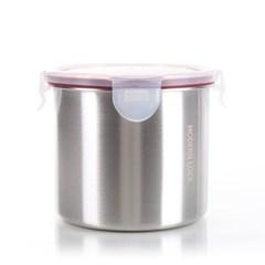 모던락 스텐밀폐용기 원형 2-2호(900ml) 반찬통