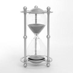 실버메탈 인테리어 모래시계(실버) 30분 타이머