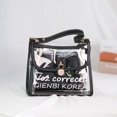 레터링 투명 PVC 미니백T 크로스백 여성 가방 핸드백