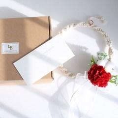 맘마미 카네이션 마크라메 용돈 봉투 선물 세트
