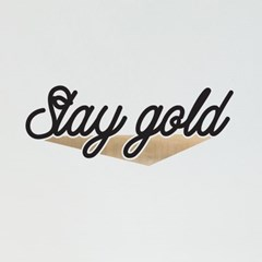 Stay gold 예쁜 감성 레터링 인테리어 스티커