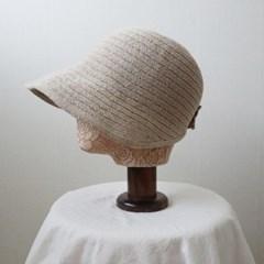 라피아 벨크로 와이어 썬캡 벙거지 모자 (4color)