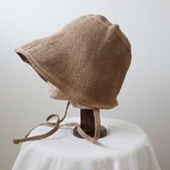 라피아 끈 보넷 와이어 벙거지 모자 버킷햇 (2color)