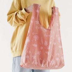 [바쿠백] 휴대용 장바구니 접이식 시장가방 Floral Sun_(5995800)