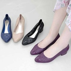 kami et muse Low heel punching jelly pumps_KM21s093