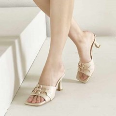 kami et muse Gold chain heel slippers_KM21s086