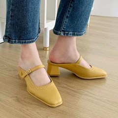 kami et muse Top belt middle heel slippers_KM21s085