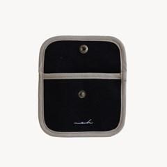 [Hard] Signature mini wallet - black