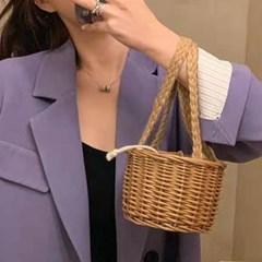 바구니 귀여운 미니 라탄 핸드백_(2551748)