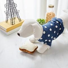 [모던하우스] 펫본) 말랑촉촉 우유식빵 삑삑이 장난감