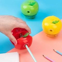DELI 델리 사과 3D디자인 회전식 연필깎이