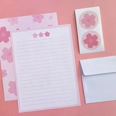 작고 반짝이는 벚꽃 편지지