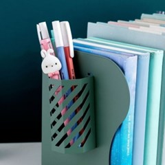 길이 조절 자바라 튼튼한 철제 책상 정리 펜홀더 책꽂이 세트 4color