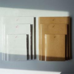 PVC 비닐커버 블랭크드로잉북 화이트,브라운 호환 (A6, A5, B5)