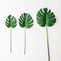 몬스테라조화 몬테라스 나뭇잎 인조조화 야자잎 나뭇잎 조화가지