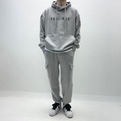 봄 남자 세미 배기 넓은통 카고포켓 트레이닝 조거팬츠