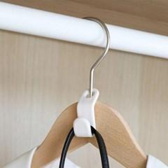 수납 아이디어 공간활용 다용도 걸이 다중 옷걸이 클립 2개 세트